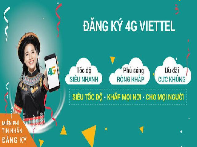 Hướng dẫn cách đăng ký 4G Viettel nhận được ưu đãi data 4G khủng mới nhất