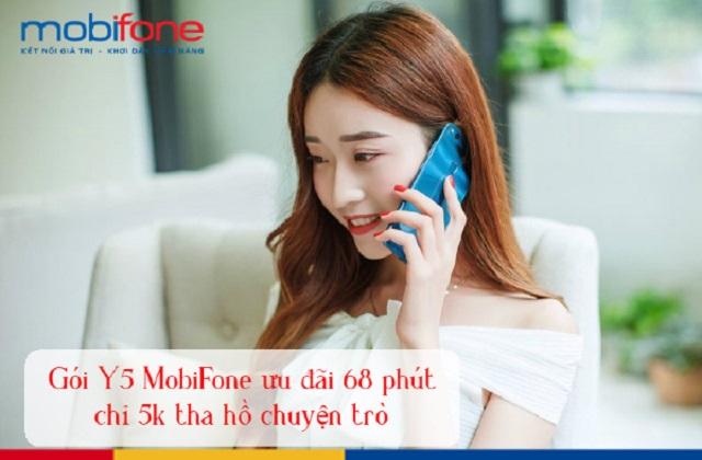 Đăng ký gói cước Y5 Mobifone có ngay 68 phút gọi chỉ 5000đ/ngày