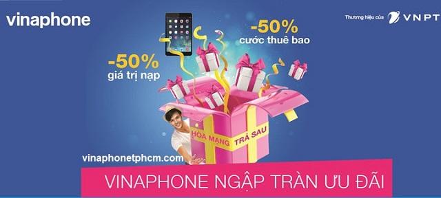 Các gói cước trả sau VinaPhone miễn phí cước thuê bao tháng