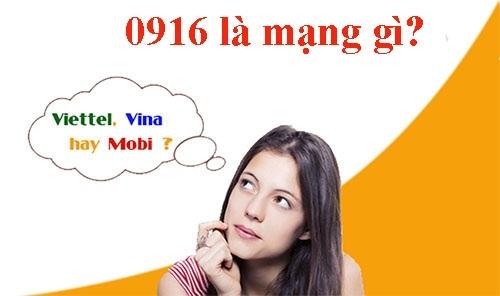 Đầu số 0916 của nhà mạng Vinaphone