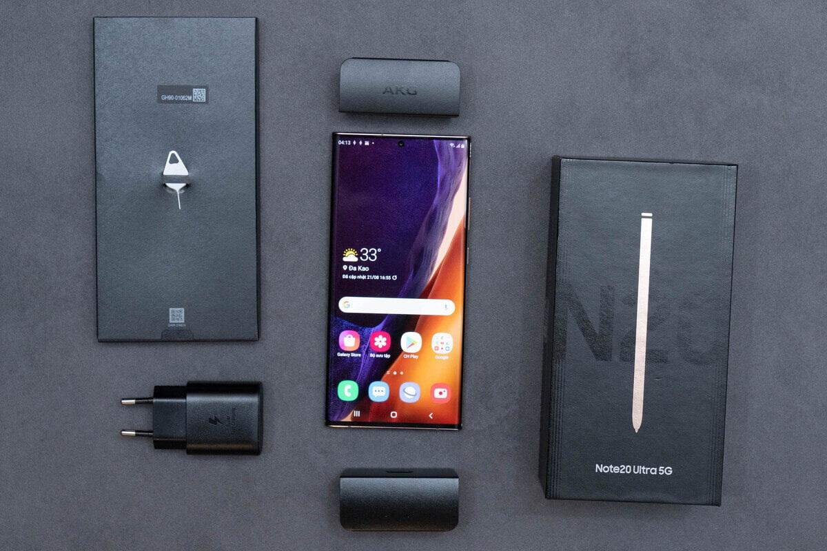 Samsung Note 20 5G thu hút từ cái nhìn đầu tiên
